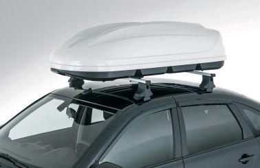 Аэродинамический бокс на крышу (серое тиснение)