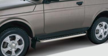 Защита порогов с алюминиевой площадкой (51 мм)